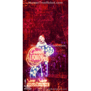 5024 Wood Panel Rectangle - Los Angeles - Circus Liquor Sign