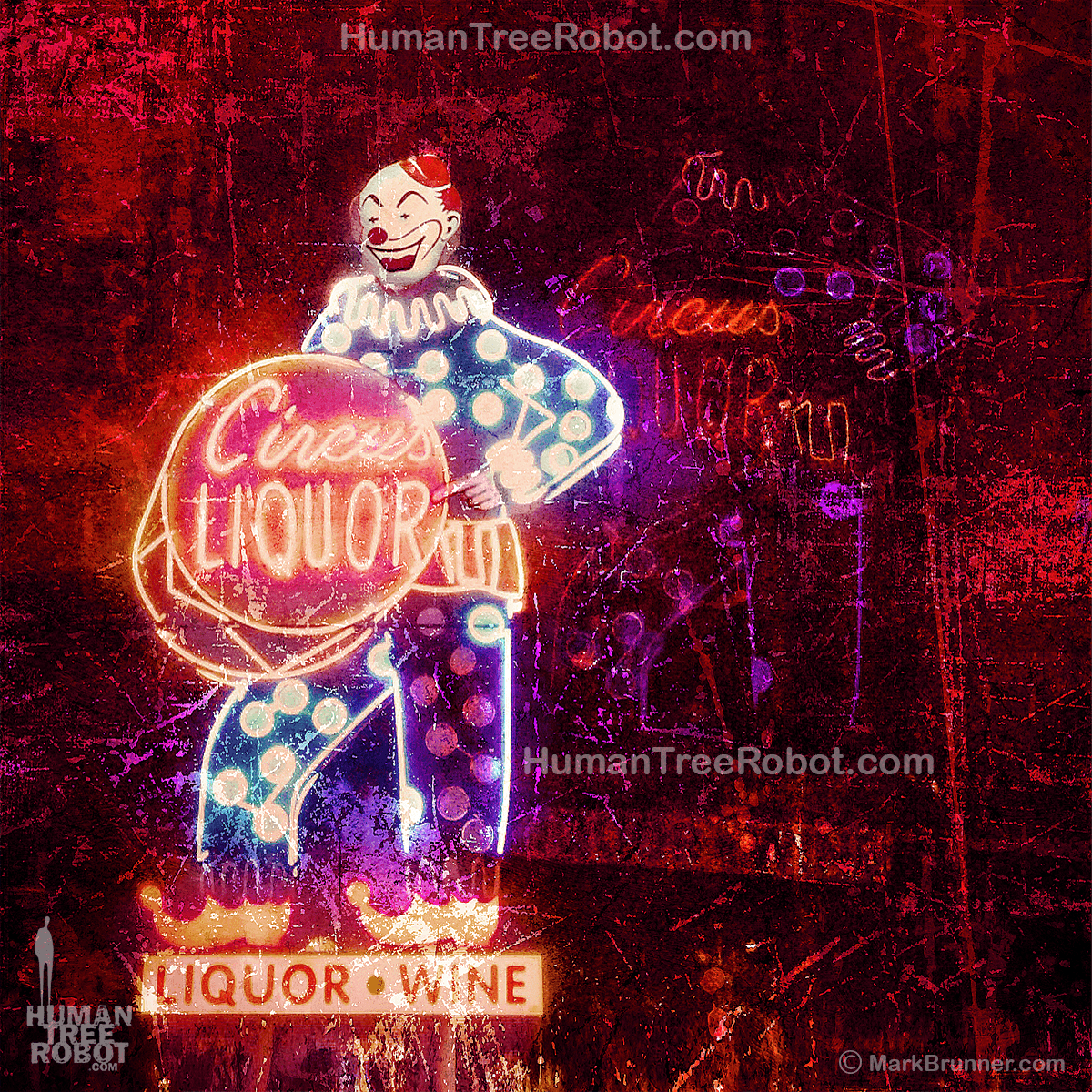 5024 Wood Panel Square - Los Angeles - Circus Liquor Sign