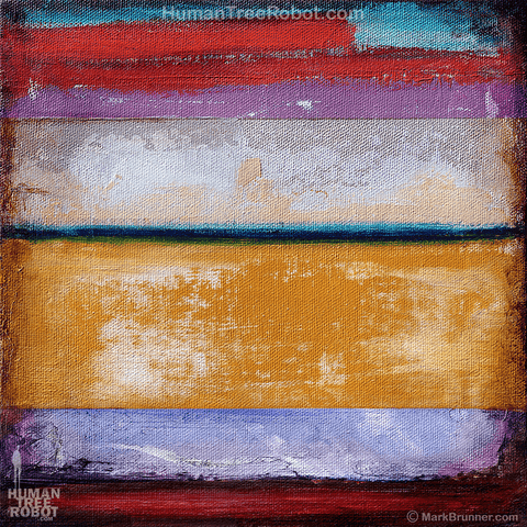 8013 Wood Panel Square - Abstract - Colors 02 - Orange