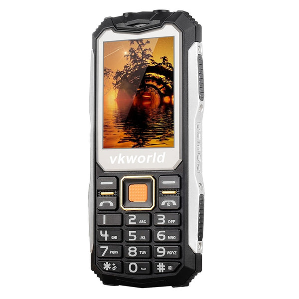 VKWorld Stone V3S Rugged Phone - 2200mAh Removable Battery, Dual-IMEI, Flashlight, Keypad
