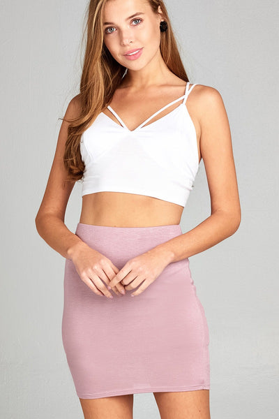 Ladies fashion front strap bustier detail rayon spandex crop top