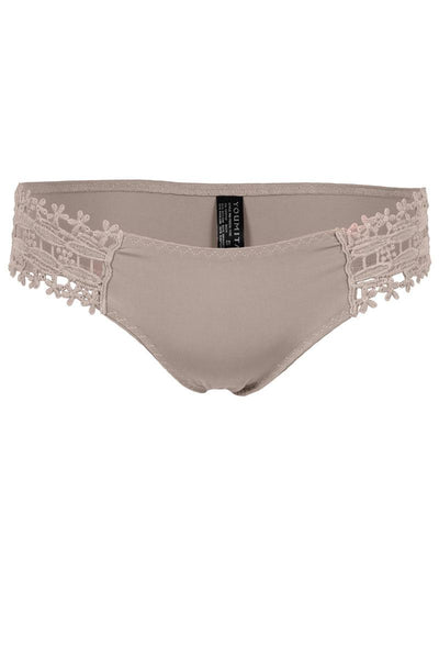 Side lace laser cut thong