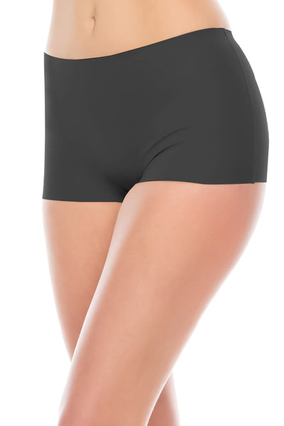 Ladies seamless shapewear boyshorts lasercut waistband