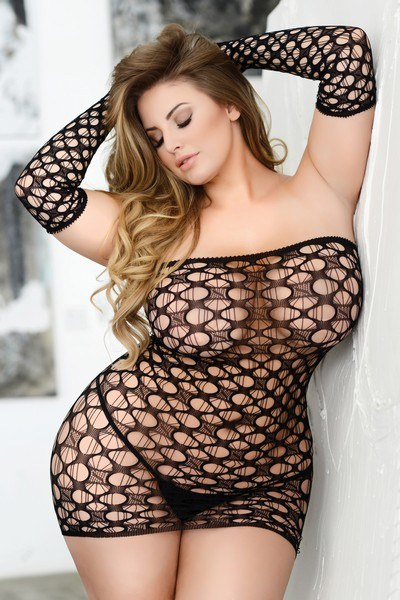 Ladies plus size  lustful fever net dress