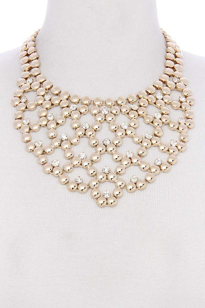 Metal ball short necklace
