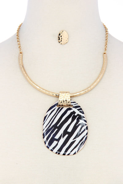Ellipse modern chic necklace set