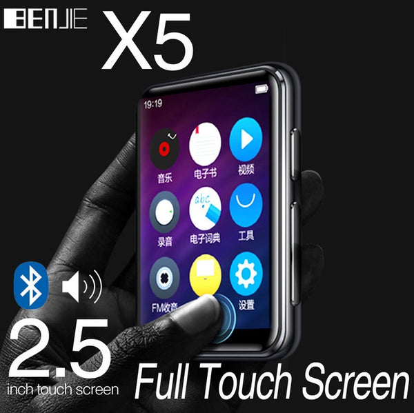 Mini MP3 Player BENJIE X5 Full Screen Bluetooth MP3 Player Student Version Portable MP4 Walkman Music Player Bluetooth version