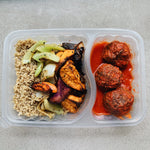 Homemade Meatballs & Roasted Sweet Potatoes*