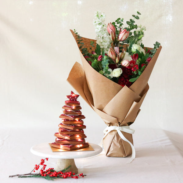 Gingerbread Tree & Bouquet Gift Set