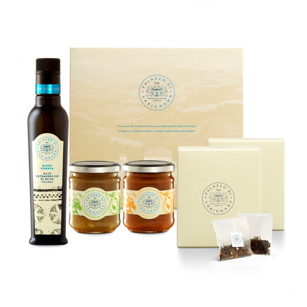Palazzo Selection 1 (Italian Olive Oil, Italian Artisan Jam and Tea Box)