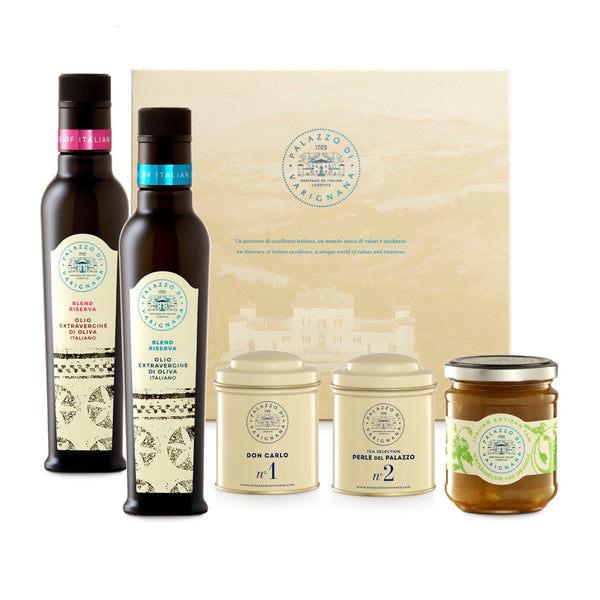 Palazzo Selection 3 (2 Italian Olive Oil, Italian Artisan Jam, 2 Tea Boxes)