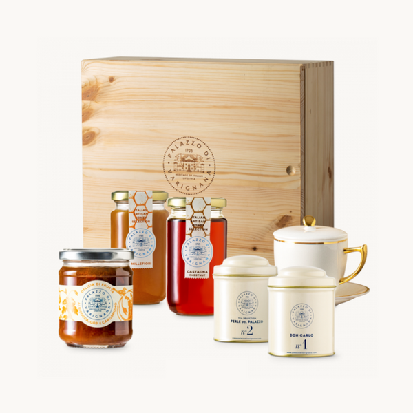 Palazzo Selection 4 (Italian Honey, Italian Artisan Jam, Tea Tins and Tea Cup)