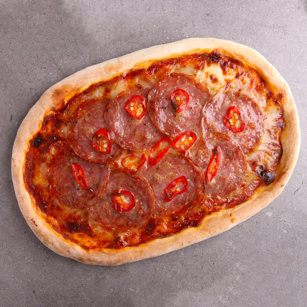 Ready-to-bake Salami Pizza*