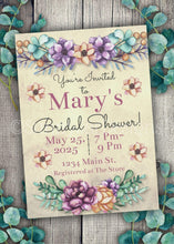 Load image into Gallery viewer, Bold Floral Bridal Shower Invitation
