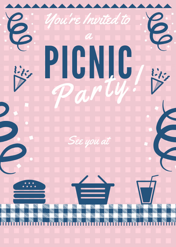 Picnic Party Invitations - Sunny Jar Designs