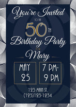 Load image into Gallery viewer, Elegant 50th Birthday Party Invitation -Shop for Elegant 50th Birthday Party Invitation