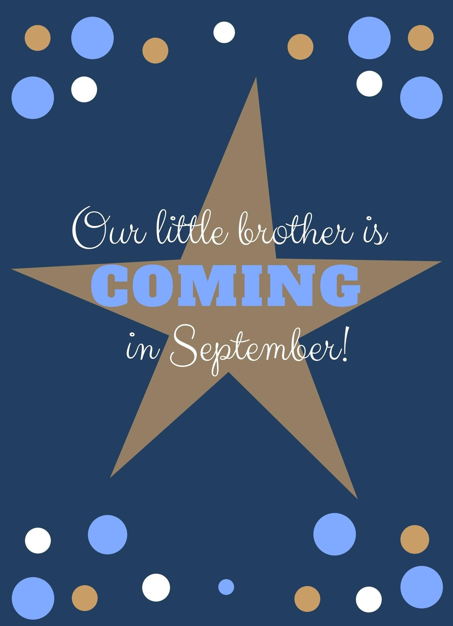 Little Brother Baby Announcement editable Download - sunny-jar-designs