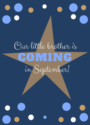 Little Brother Baby Announcement - Custom Design Party Invites and Personalized Announcements