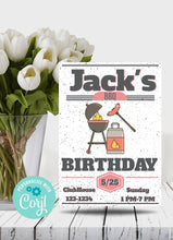 Load image into Gallery viewer, BBQ Birthday Party Invitation-Sunny Jar Designs