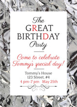 Load image into Gallery viewer, The Great Birthday Party Invitation