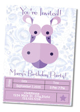 Load image into Gallery viewer, Purple Cow Party Invitation