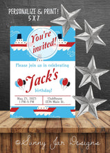 Load image into Gallery viewer, Boating Birthday Party Invitation-Sunny Jar Designs