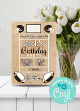 Load image into Gallery viewer, Football Birthday Party Invitation -Shop for Football Birthday Party Invitation