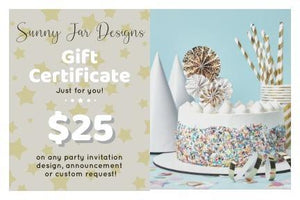 Sunny Jar Designs Gift Card -Shop for Sunny Jar Designs Gift Card