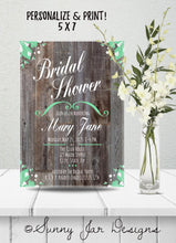 Load image into Gallery viewer, Mint Green Bridal Shower Party Invitation-Sunny Jar Designs
