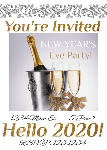 New Year's Party Party Invitation II - Custom Design Party Invites and Personalized Announcements