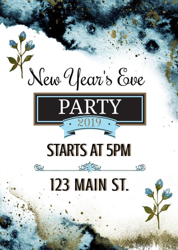 New Year's Eve Party Invite - Custom Design Party Invites and Personalized Announcements
