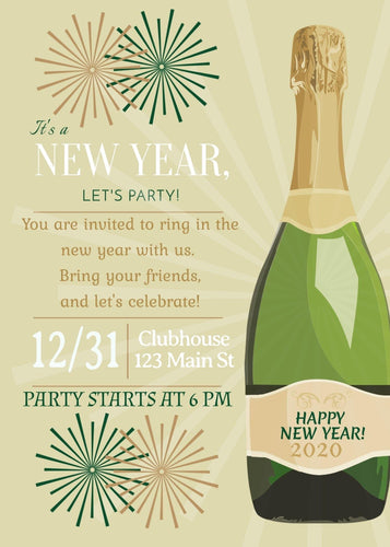 New Year's Party Party Invitation - Custom Design Party Invites and Personalized Announcements
