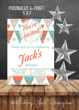 Load image into Gallery viewer, Orange Deer Birthday Party Invitation-Sunny Jar Designs