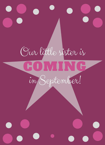 Little Sister Baby Announcement - Custom Design Party Invites and Personalized Announcements