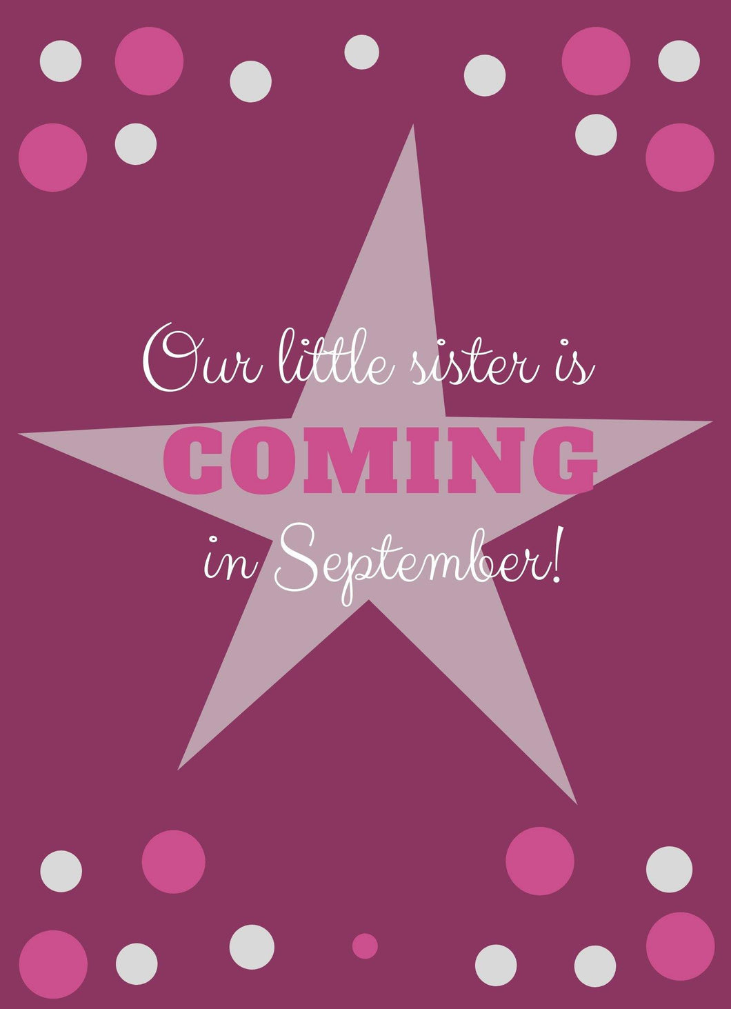 Little Sister Baby Announcement