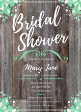 Load image into Gallery viewer, MintGreen Bridal Shower Party Invitation -Shop for MintGreen Bridal Shower Party Invitation