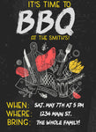 BBQ Birthday Invitation Editable Download - sunny-jar-designs
