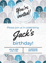 Load image into Gallery viewer, Trees  Birthday Party Invitation -Shop for Trees  Birthday Party Invitation