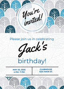 Trees Birthday Party Invitation