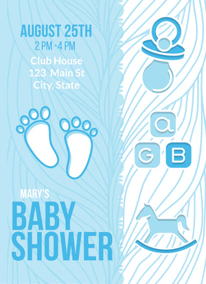 Baby Shower (Blue) Invitation Editable Download - sunny-jar-designs