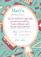 Load image into Gallery viewer, Student Themed Party Invitation-Sunny Jar Designs