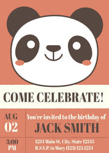 Load image into Gallery viewer, Panda Birthday Party Invitation-Sunny Jar Designs