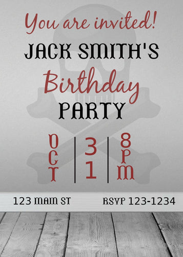 Scary  Birthday Party Invitation - Custom Design Party Invites and Personalized Announcements