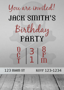 Scary Birthday Party Invitation-Sunny Jar Designs