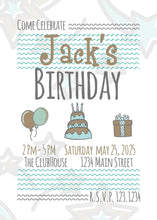 Load image into Gallery viewer, Starry Birthday Party Invitation - Custom Design Party Invites and Personalized Announcements
