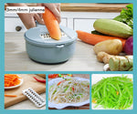 Multipurpose vegetable slicer bowl