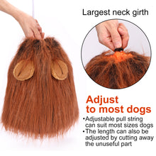 Load image into Gallery viewer, CPPSLEE Halloween Lion Mane Wig Costume - Make Your Dog Lion King - Adjustable Washable Comfortable Fancy Lion Hair Dog Clothes Dress for Halloween