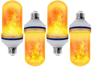 CPPSLEE - LED Flame Effect Light Bulb - 4 Modes with Upside Down Effect - E26 Base LED Bulb - Flame Bulbs for Christmas Decorations /Hotel/Bar/Christmas Party Decoration (4 Pack )