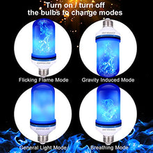 Load image into Gallery viewer, CPPSLEE - LED Flame Effect Light Bulb - 4 Modes with Upside Down Effect - E26 Base LED Bulb - Flame Bulbs for Christmas Decorations /Hotel/Bar/Christmas Party Decoration (2 Pack of Blue)