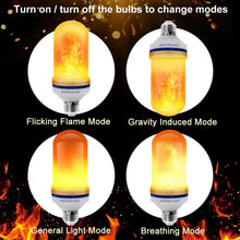 Load image into Gallery viewer, CPPSLEE - LED Flame Effect Light Bulb - 4 Modes with Upside Down Effect - E26 Base LED Bulb - Flame Bulbs for Christmas Decorations /Hotel/Bar/Christmas Party Decoration (4 Pack )